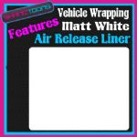 2M X 1520mm VEHICLE CAR VAN WRAP MATT WHITE FINISH FEATURES AIR RELEASE LINER